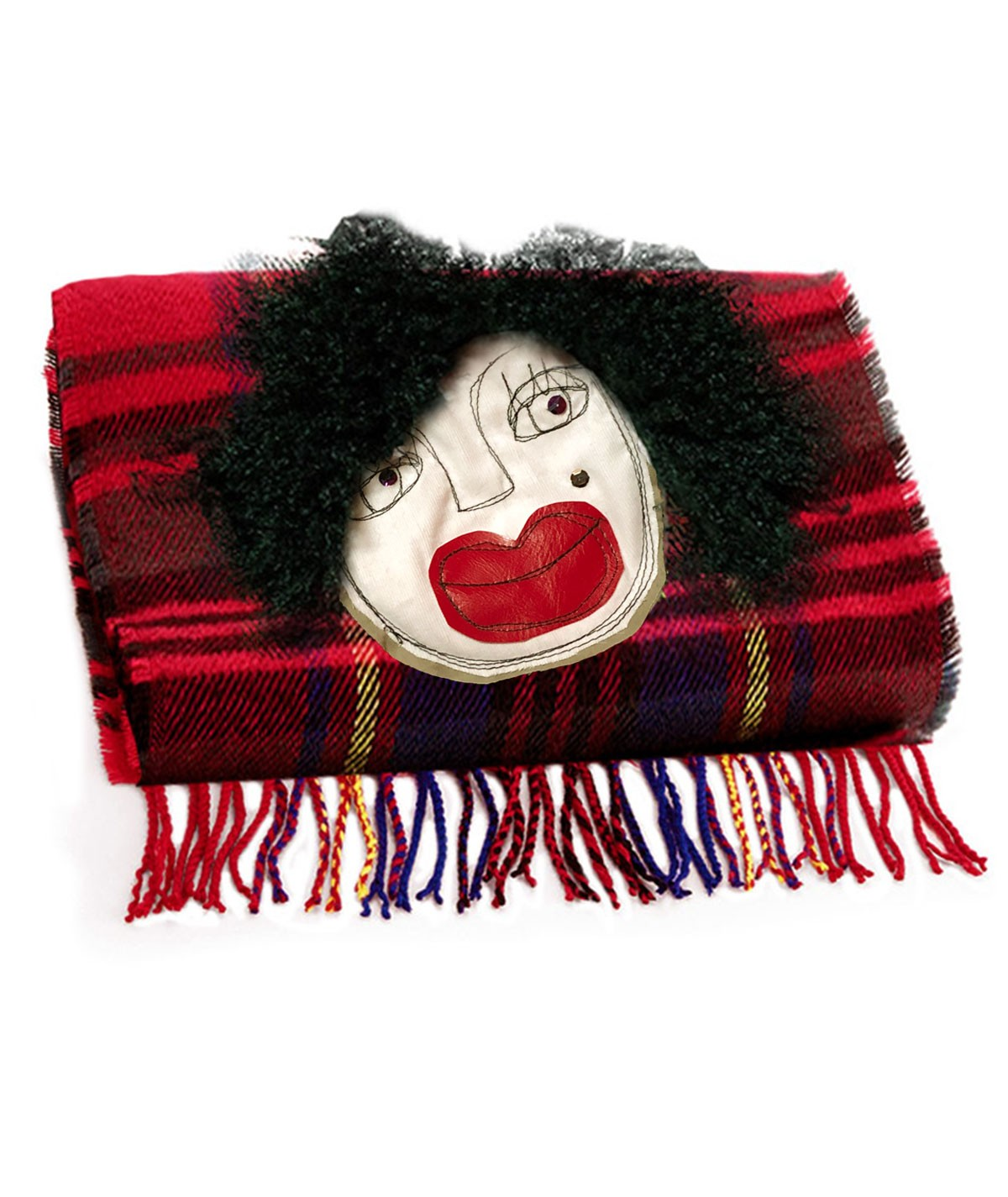 Tartan scarf with fillybiz...