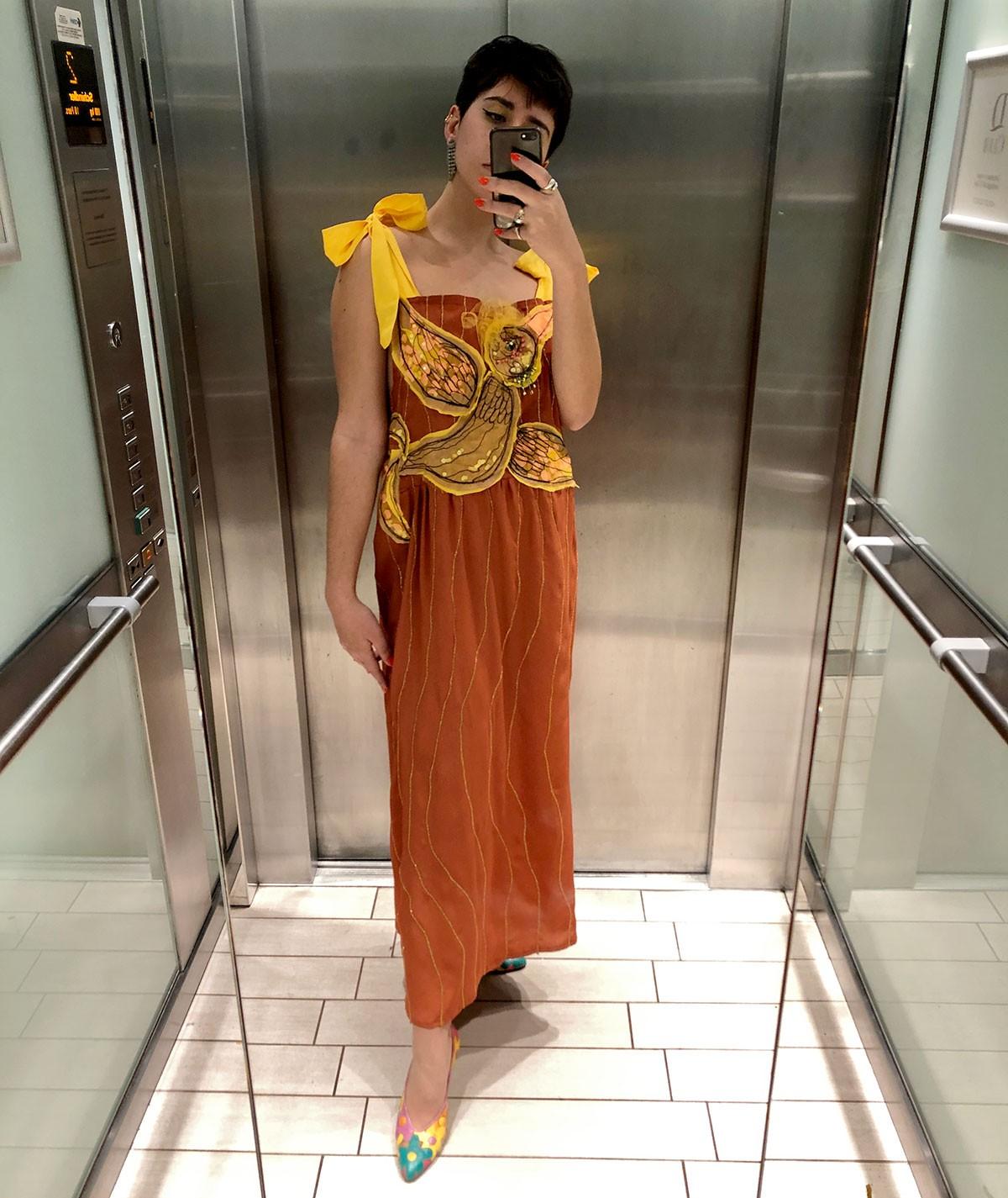 Bird Dress with bow straps