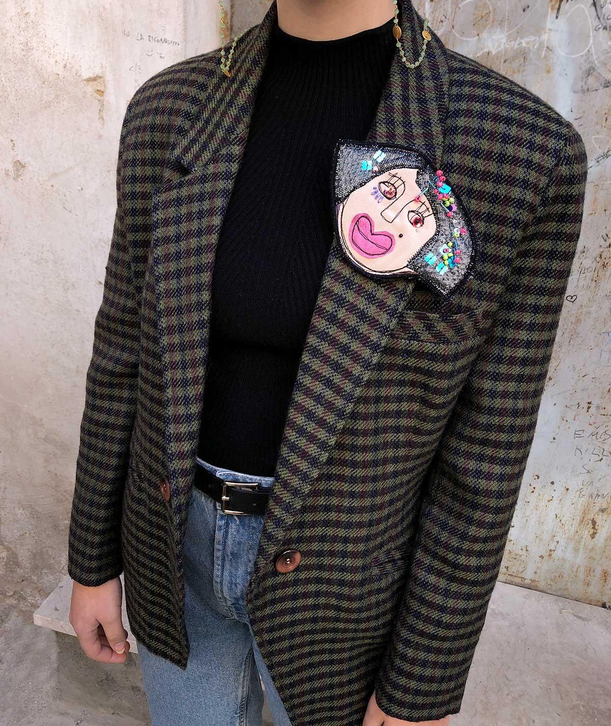 Chiara - fabric brooch