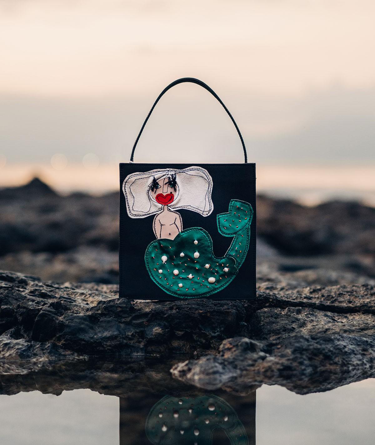 Sirena - borsa a mano di pelle