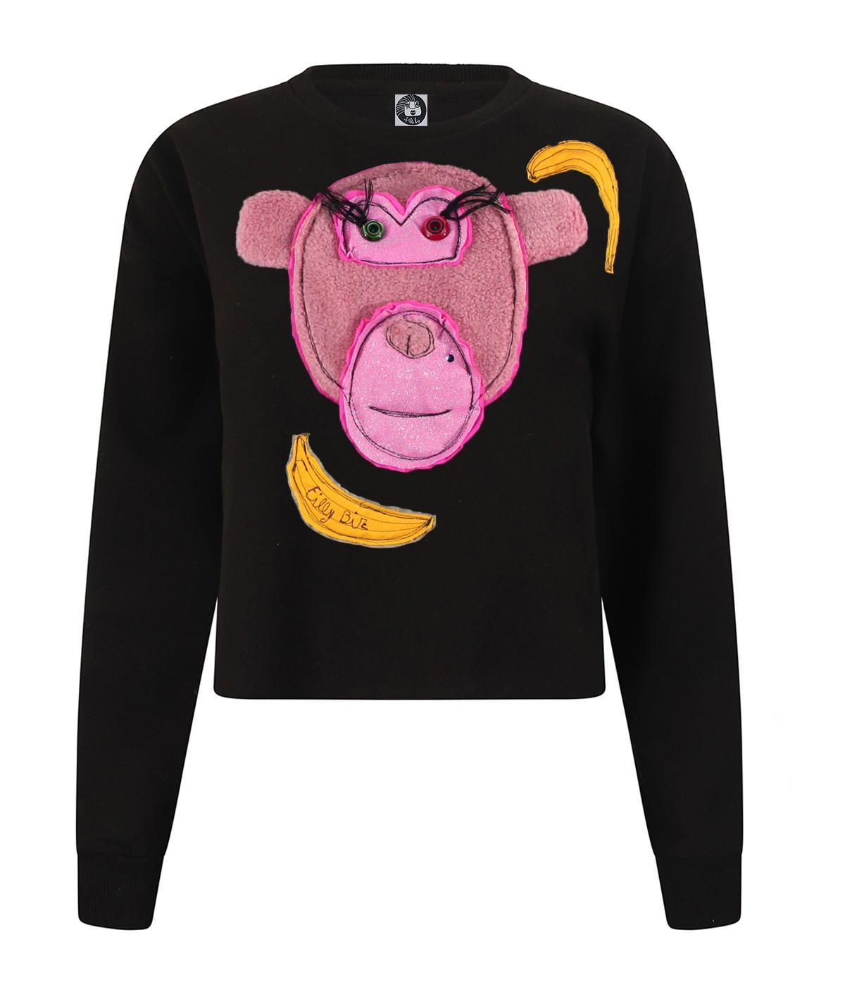 Pink monkey - crop sweatshirt