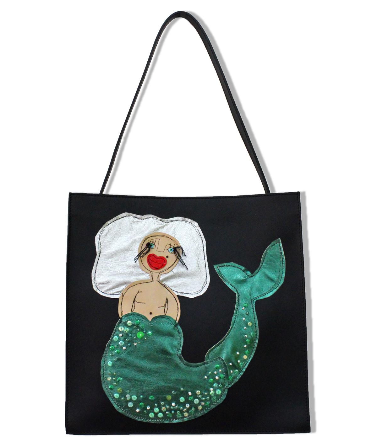 Mermaid - maxi leather bag