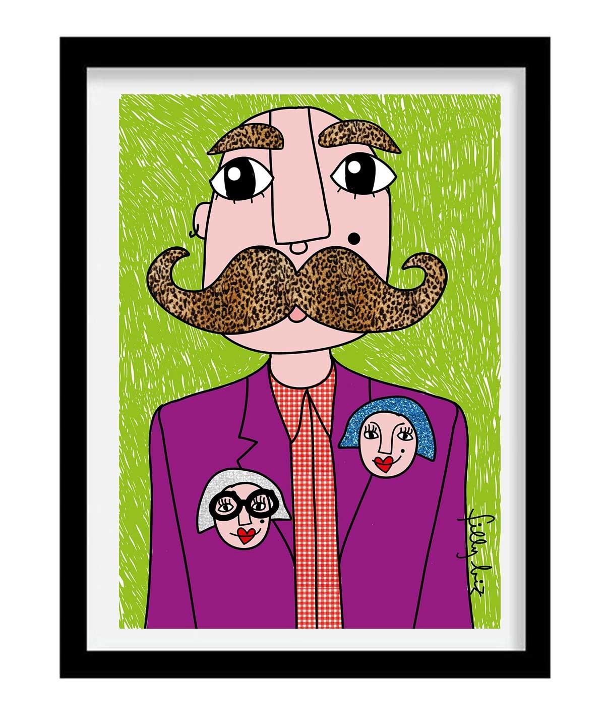 Mr. Mustache - print