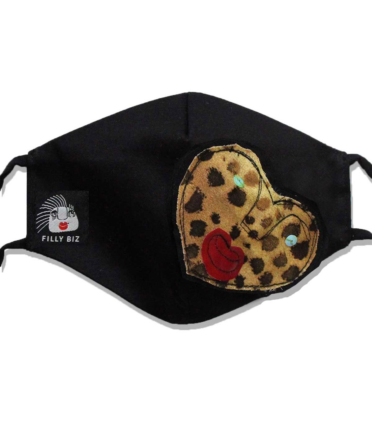 Cuore leopardato - Mascherina