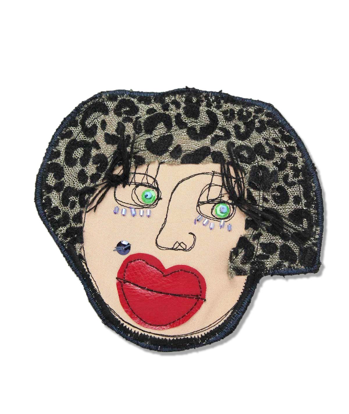 Mary - fabric brooch