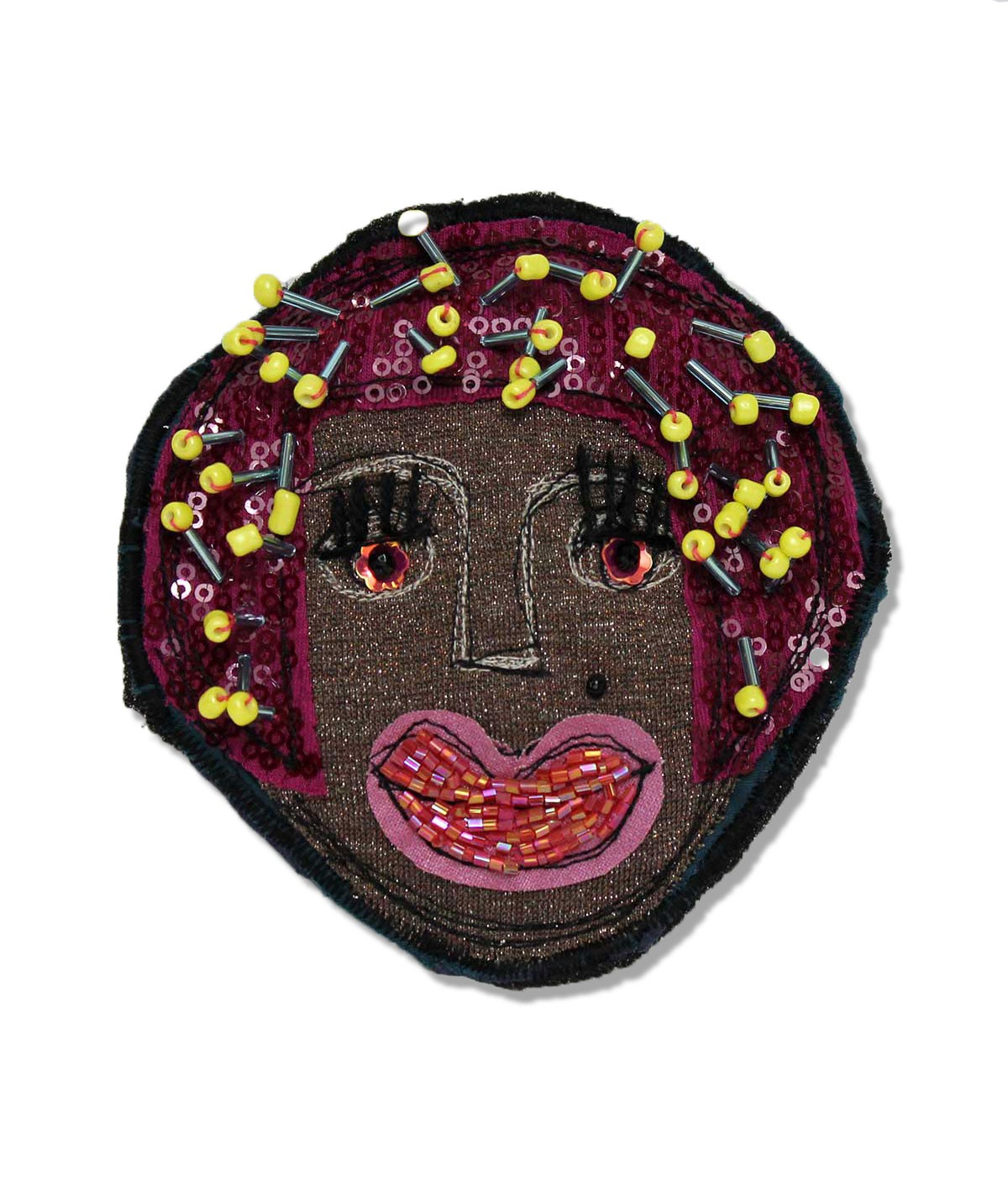 Stella - fabric brooch