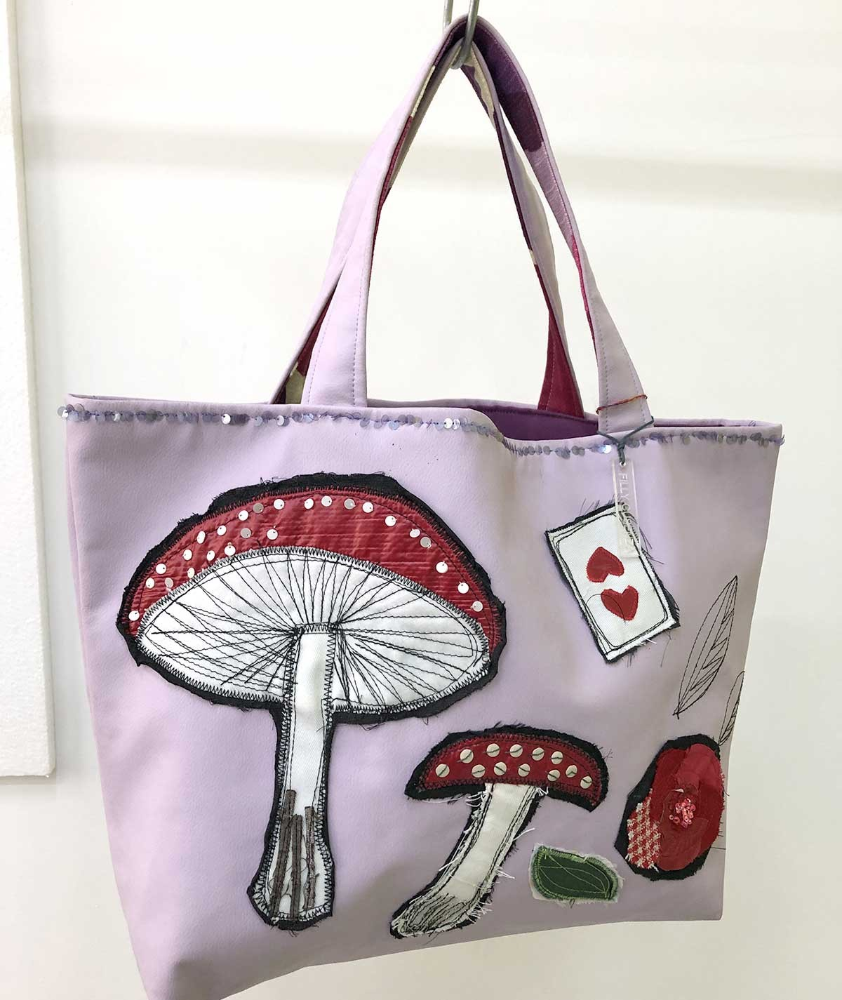 Mushroom - faux leather bag