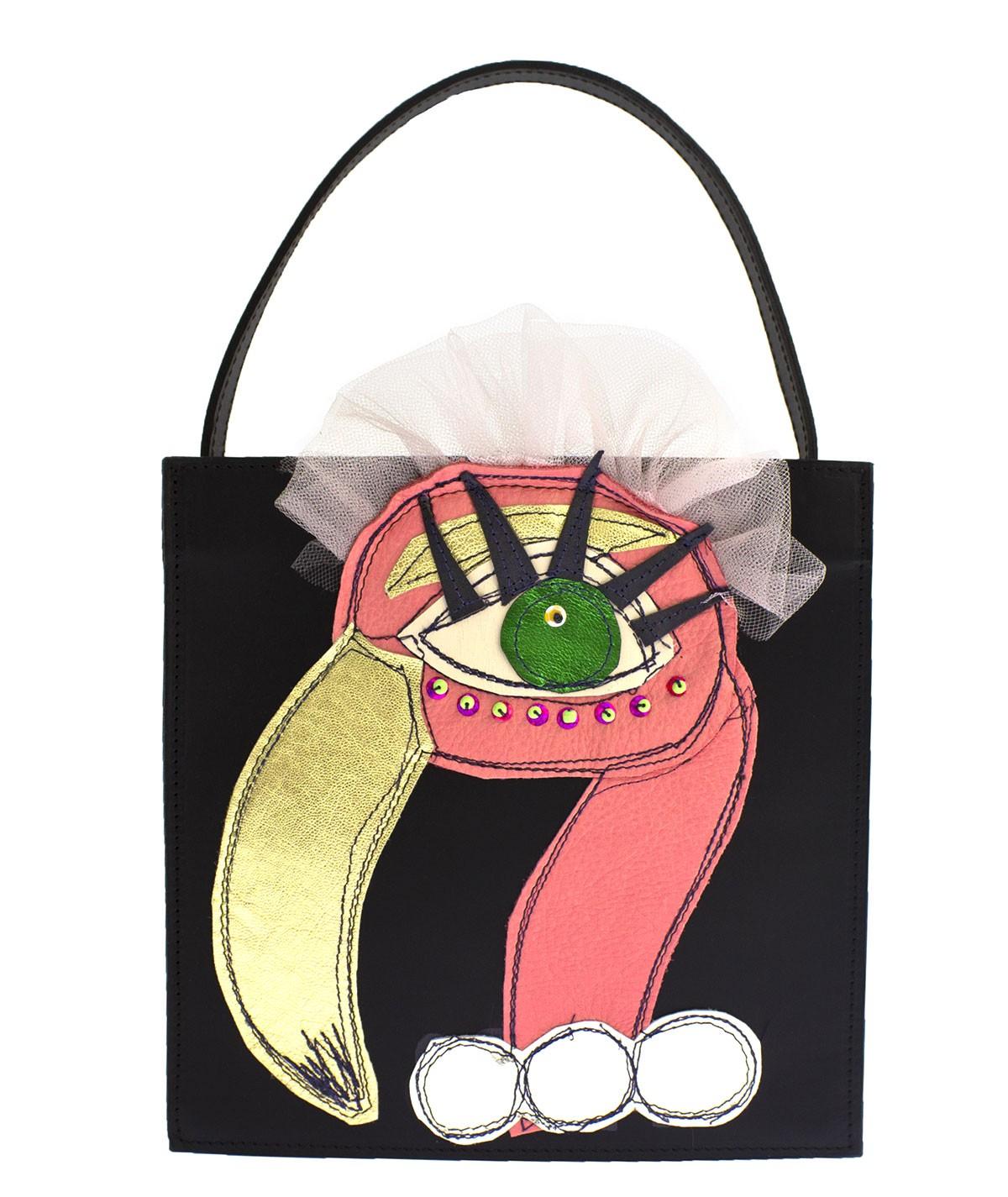 Flamingo - leather handbag