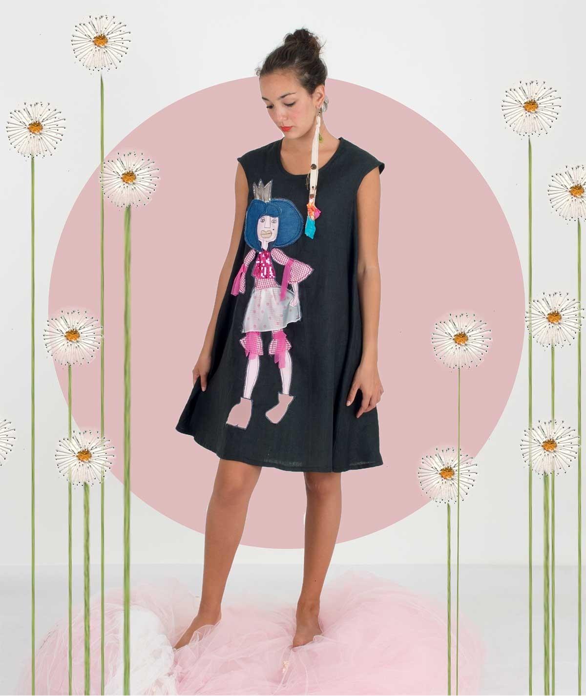 The fuchsia princess Dress