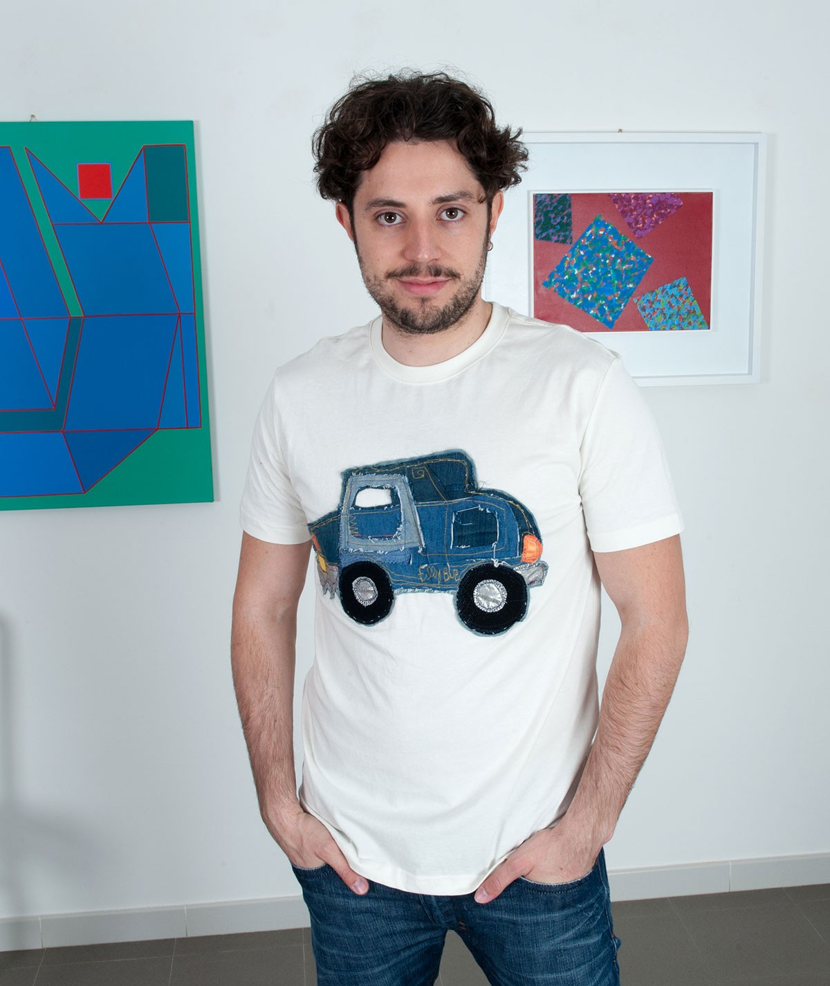 Denim car T-shirt