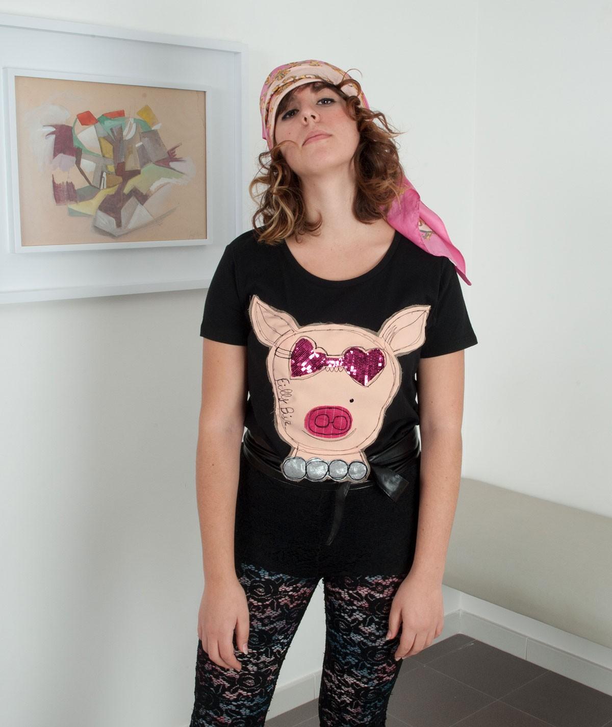T-shirt Fashion pig