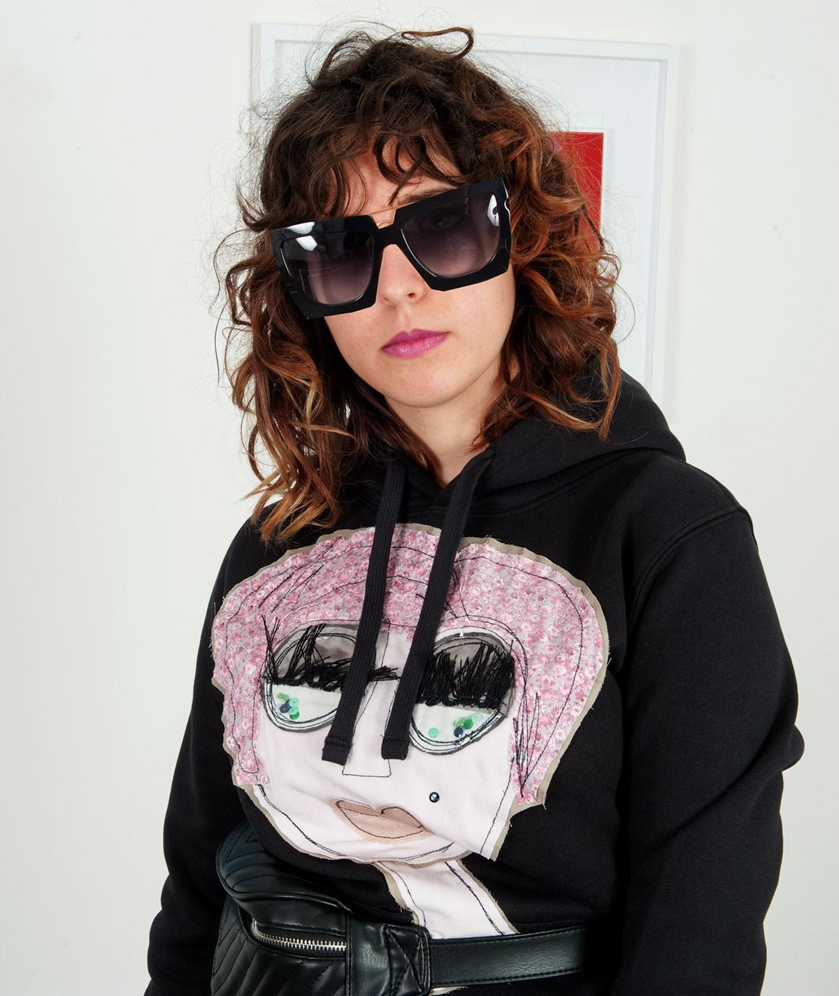 Pink lady sweatshirt for women