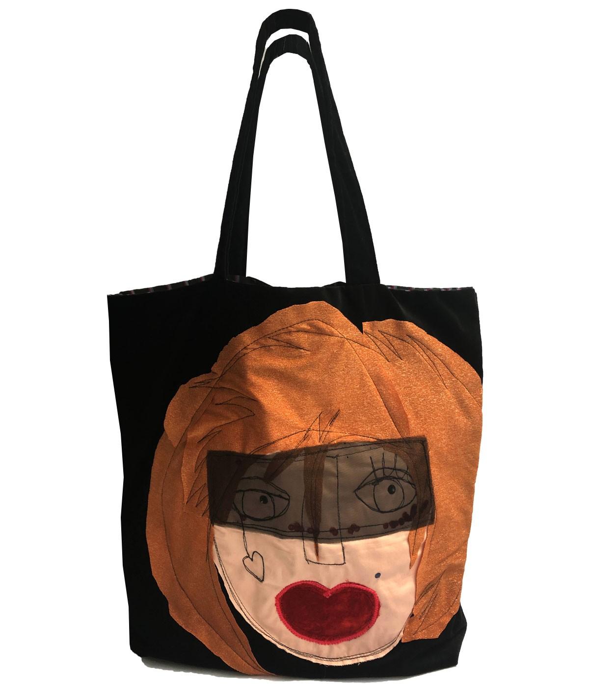 Gaia - borsa di velluto